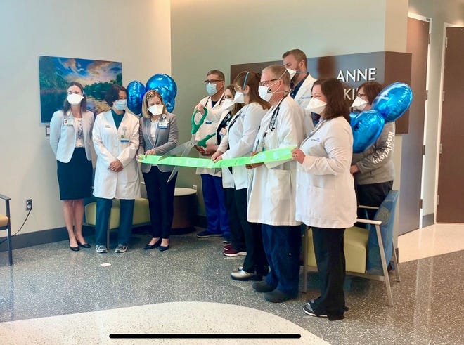 Lakeland Regional Health administrators and staff joined together Tuesday to hold a ribbon-cutting ceremony for the hospital's new pediatric intensive care unit. The 12-bed section is the first of its kind in Polk County. PROVIDED PHOTO/LAKELAND REGIONAL