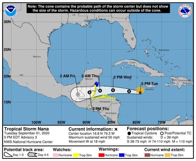 Tropical Storm Nana