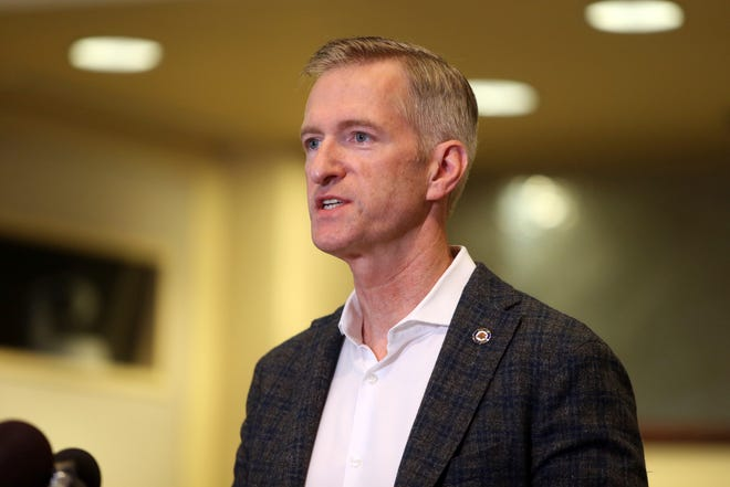 Portland Mayor Ted Wheeler defended his record during a debate Thursday night, saying he is prioritizing helping downtown businesses and insisted he can end violence during demonstrations, while challenger Sarah Iannarone said she will bring new voices to the table and views police violence, not that of protesters, as the most serious problem.