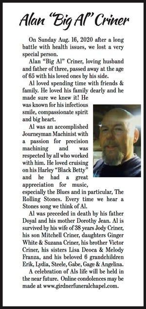 Obituary: Alan Criner