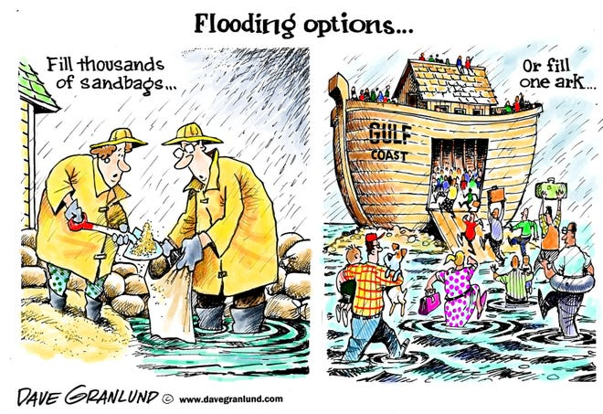 Not many options when it comes to flooding
