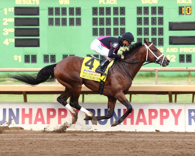 Art Collector recently won the RUNHAPPY Ellis Park Derby.