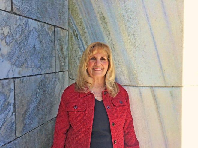 Carol Bebout at the Harding Memorial.