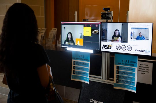 New temperature checking technology at the Hardy Student Center on Alabama State University campus in Montgomery, Ala., on Tuesday, Sept. 1, 2020.