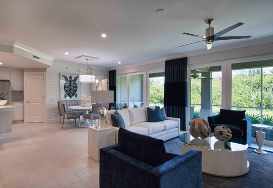 The newest model at Antilles, The Nevis offers an open floorplan for dining and entertaining.