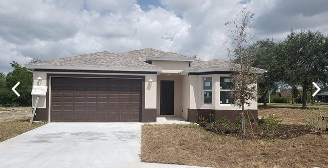 The Maravilla, shown here as a previous model, is a three-bedroom home under construction by FL Star in Golden Gate Estates.