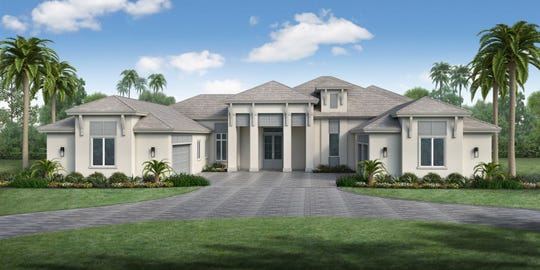 Rendering of the residence under construction at 125 Caribbean Road by Stock Custom Homes.