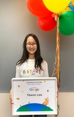 Middle Schooler Yewon Lee of Fort Lee has been named one of the top five finalists in the nation for her Google Doodle design.