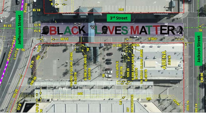 Local activists want to paint a Black Lives Matter mural on Third Street in downtown Phoenix near Talking Stick Resort Arena.