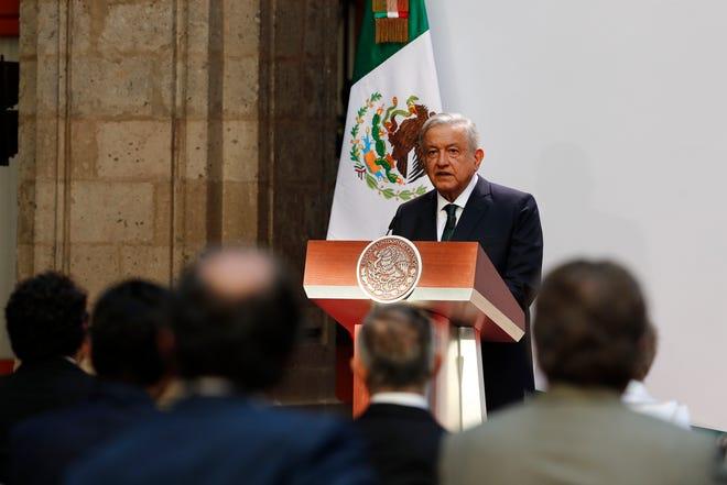 El presidente de México, Andrés Manuel López Obrador, ofrece hoy su segundo informe de Gobierno, en el Palacio Nacional de Ciudad de México.
