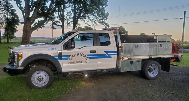 A 2019 Ford F550 was stolen from the Ballston Fire Station in Polk County on Monday, August 21, 2020.