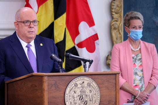 Maryland Gov. Larry Hogan announced that all of the state's school systems met safety standards to reopen for some in-person instruction during a news conference on Aug. 27.