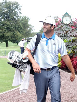Jon Rahm, the No. 2-ranked golfer in the world, is all smiles after playing the West Course at Winged Foot Golf Club in Mamaroneck Sept. 1, 2020. Winged Foot will host the U.S. Open Sept. 17-20.