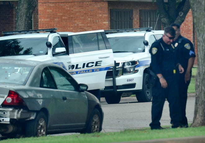 """Wichita Falls police arrest a possible assault suspect Tuesday afternoon after receiving reports of a """"small man running around hitting people with a hammer"""" on the city's east side."""