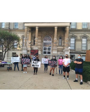 Nearly 100 people attended a Black Lives Matter rally Sunday, at the Muskingum County Courthouse.