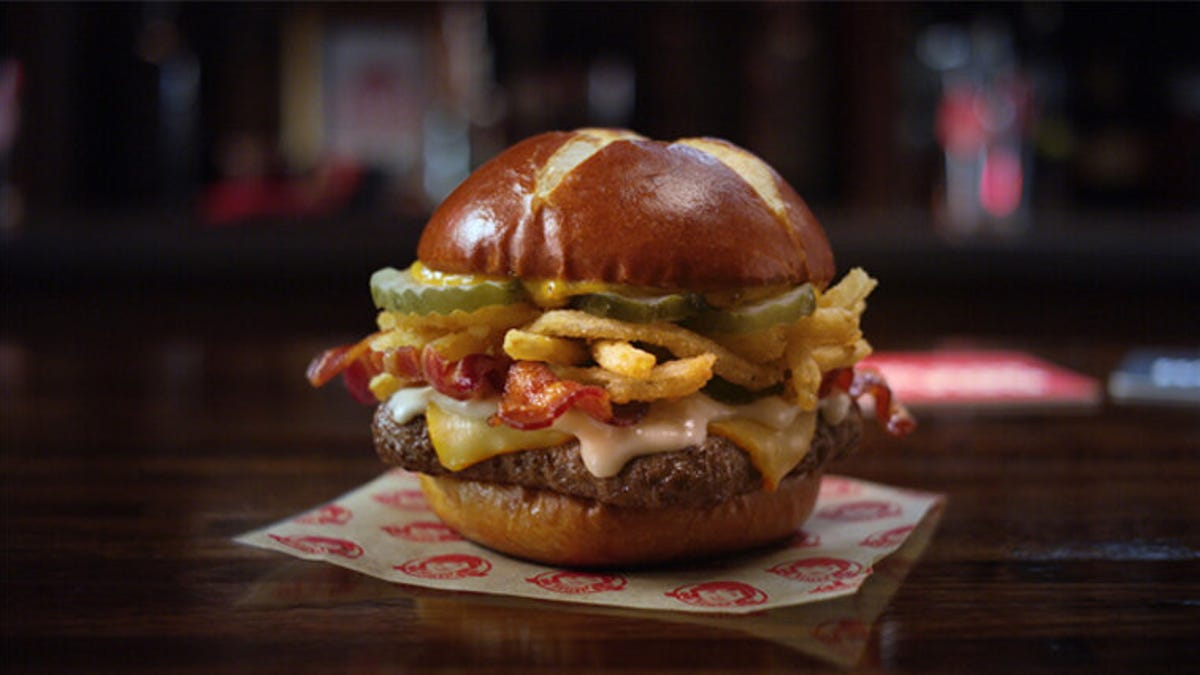 Wendy S Pretzel Burger 2020 New Bacon Pub Cheeseburger Now Available