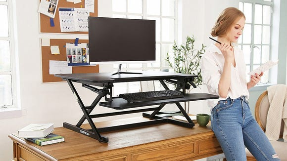 Convert any tabletop into a standing desk with the Flexispot.