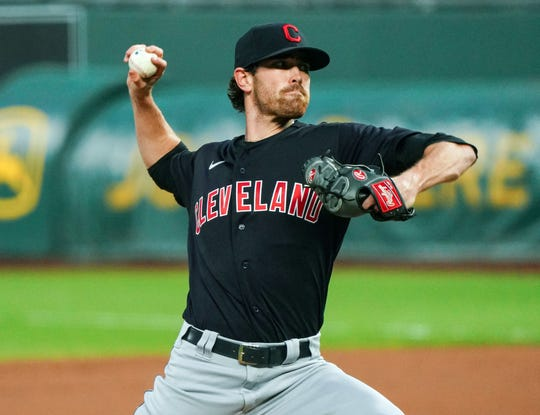The Indians' Shane Bieber leads the major leagues in ERA, strikeouts and quality starts and is tied for the lead in wins.