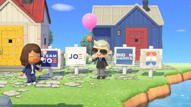 "The Biden-Harris campaign launches yard signs on ""Animal Crossing: New Horizons."""