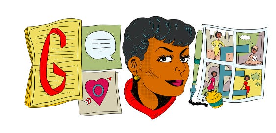 Black cartoonist Jackie Ormes was acknowledged with a Google Doodle.