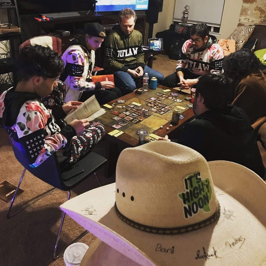 Game night with members of the Lone Star Vanguard, a fan group for the Houston Outlaws of the Overwatch League.