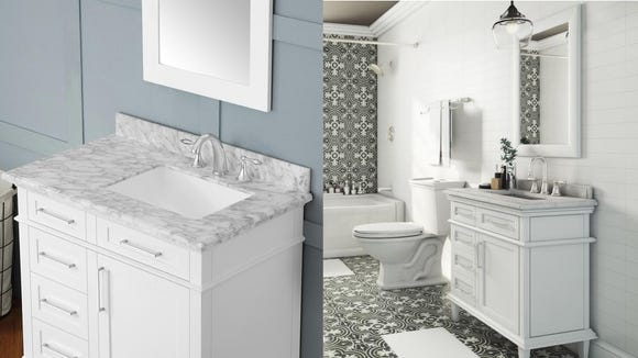 Transforming your bathroom starts with a new vanity.