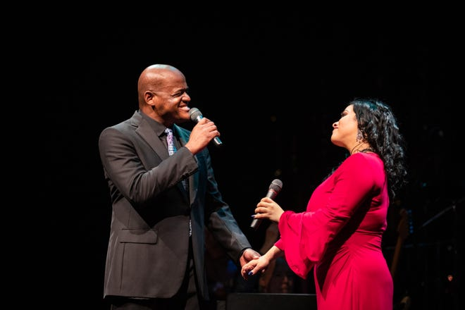 Keith Spencer, left, is one of the featured performers at the Broadway Summer Spectacular at Bristol Riverside Theatre. [COURTESY BRISTOL RIVERSIDE THEATRE]