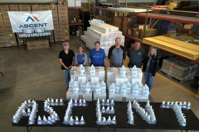 Ascent also supplied gallons of foaming hand sanitizer along with smaller self-pump containers for numerous schools in the area.