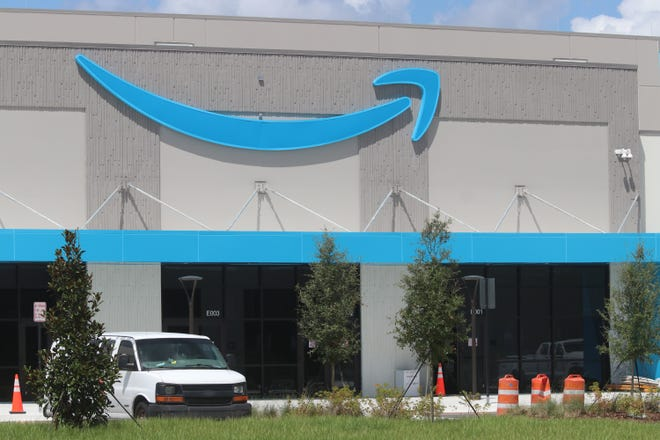 The developer of the 1.4 million-square-foot distribution center for Amazon in Deltona, pictured on Sept. 2, 2020, announced this week that it has completed construction.