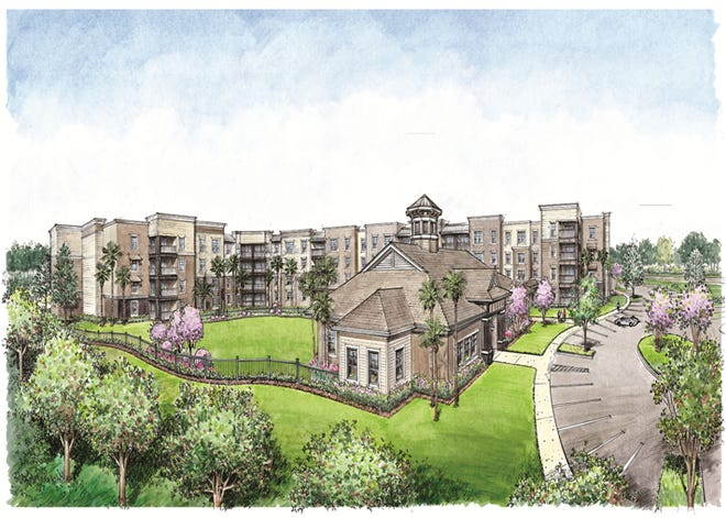 A Sarasota-based company called Beneficial Communities is hoping to build low-rent apartments on Martin Luther King Jr. Boulevard on a 2-acre site just north of Orange Avenue. Pictured is a rendering of what the 82-unit apartment complex could look like.