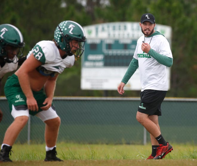 Daniel Fish, who battled testicular cancer in 2019, took over as Father Lopez's football coach earlier this summer.