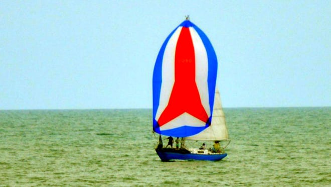 The sailboat Obsession during a recent near-shore race.