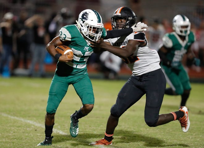 Flagler Palm Coast's Chris Parks earned a Game Ball for his play Friday night. FPC cruised to its fourth straight win in the Potato Bowl, riding its senior running back Parks. He had 14 carries for 165 yards and three touchdowns in a 38-0 win over Matanzas.