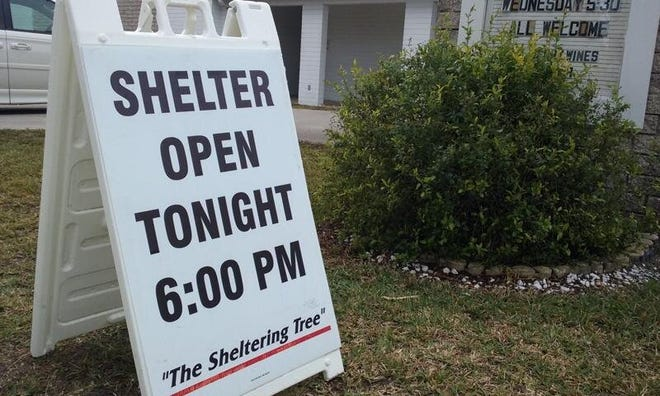 Palm Coast will partner with Flagler County, Bunnell and Flagler Beach to provide cold-weather shelter services through The Sheltering Tree.