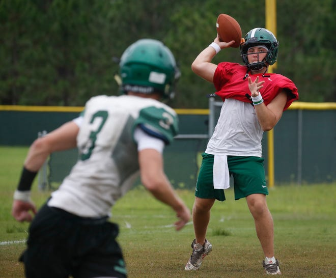 Andrew Acebal threw for 246 yards and two touchdowns in Father Lopez's loss to New Smyrna Beach last week.