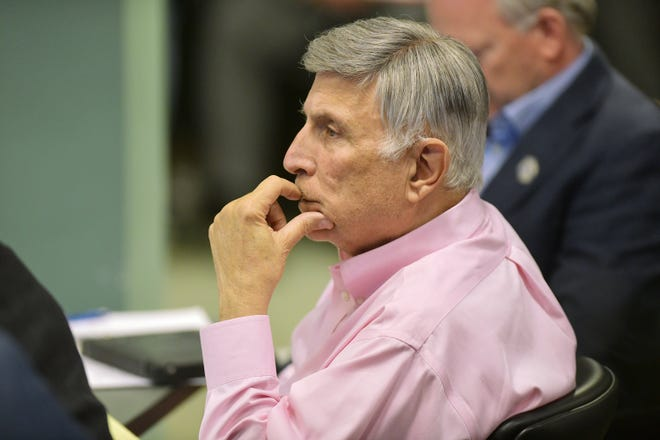 Jacksonville City Council member Tommy Hazouri resumed the duties of council president on Tuesday. Hazouri had stepped aside to undergo lung transplant surgery on July 25.