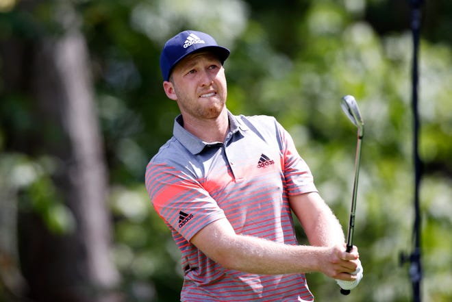 Jupiter's Daniel Berger hits his tee shot on the 16th hole during the first round of the BMW Championship last week at Olympia Fields Country Club - North.