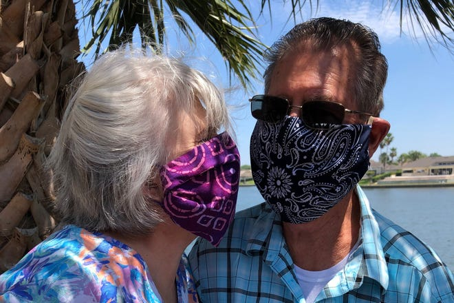 Masked and protected in Palm Coast.