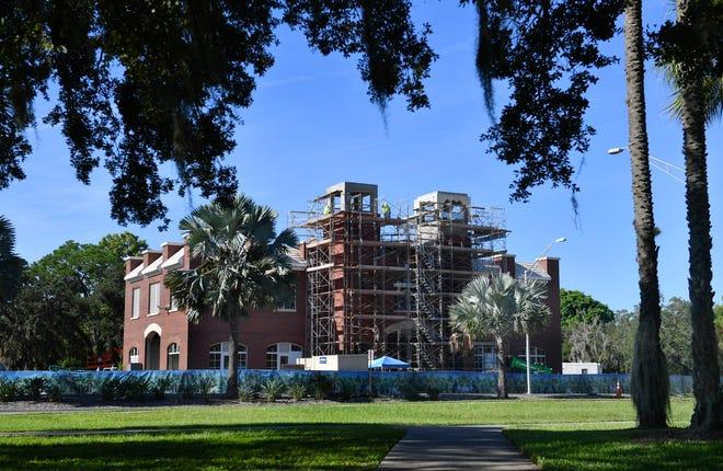 Lift Station 87 in Luke Wood Park on Mound St. near U.S. 301 in Sarasota.