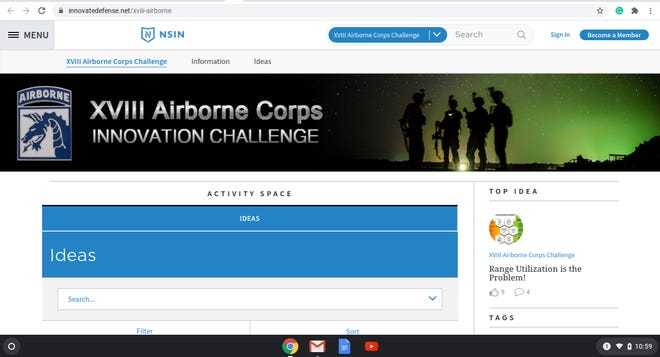 The 18th Airborne Corps has launched a challenge for soldiers, family members and Department of Army civilians to propose solutions to issues they see within military life.