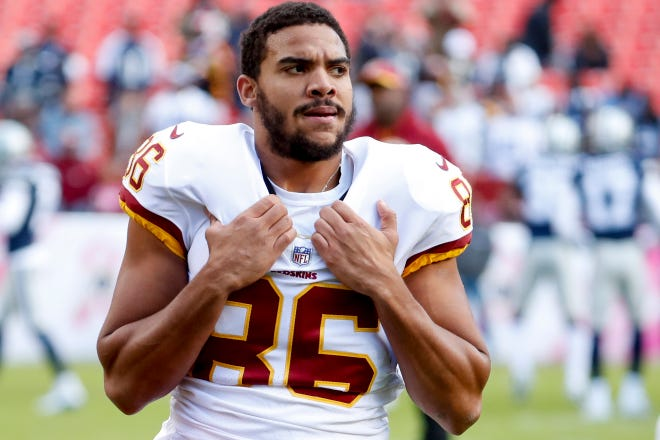 Former Washington tight end Jordan Reed is now with the 49ers.