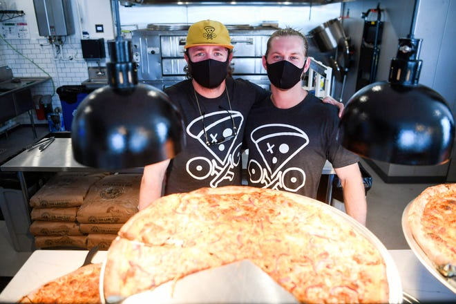 Jack Morrissey, left, and Tyler Kotch co-owners of Pie.Zaa Pizza.