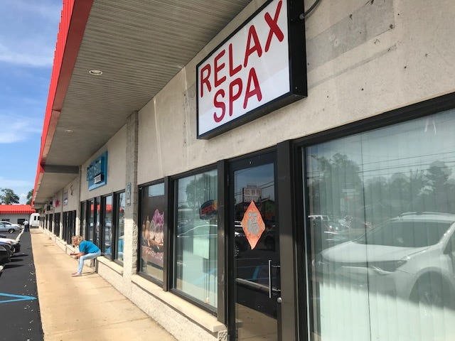 Relax Spa at 590 W. Columbia Ave.