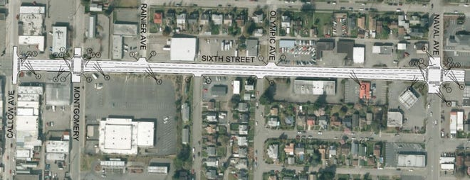 Contractors for the city will begin repaving the section of Sixth Street between Callow Avenue and Naval Avenue this month.
