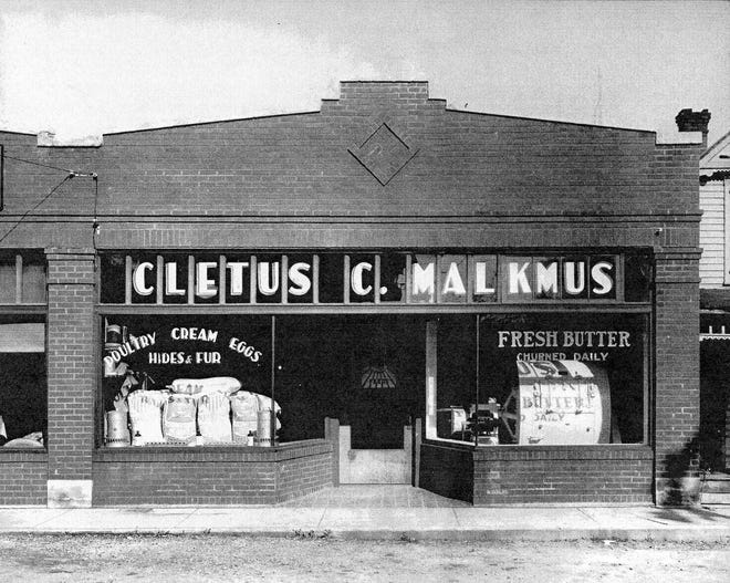 The Cletus Malkmus farm store was open in the 1920s.