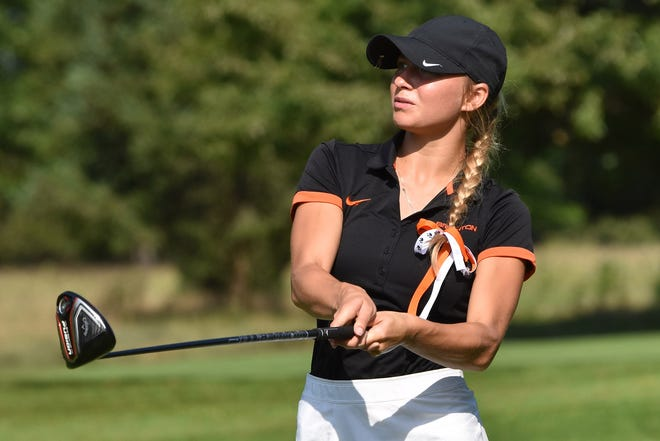 Maggie Pietila of Brighton has made the all-state golf team the last two seasons.