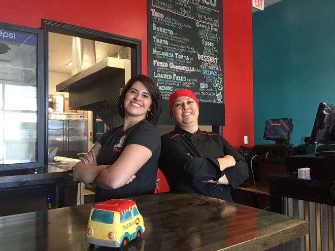 Dena Miller, left, and Gabi Miranda at their new Mexico City street food-inspired restaurant in Genoa Township, Wednesday, Sept. 2, 2020.