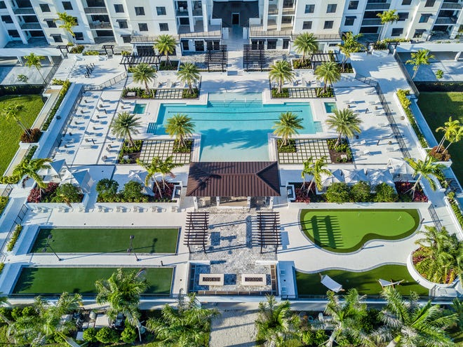 Residents at Eleven Eleven Central community will enjoy an approximately 60,000 square foot courtyard amenity deck that features a 3,500 square foot resort style pool with a beach entry and 90-foot lap lanes.
