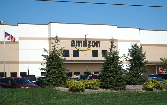Amazon's distribution center at 39000 Amrhein in Livonia.