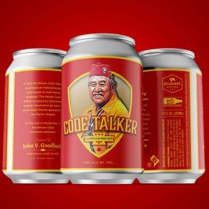 Hellbender Brewing Co.'s release is a tribute to Navajo Code Talker John V. Goodluck.